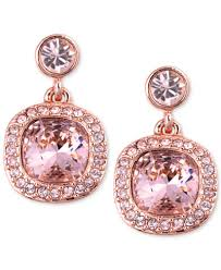 pink earrings givenchy earrings gold tone swarovski light pink drop