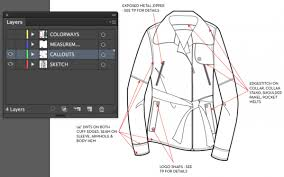 tutorial illustrator layers fashion technical flats in illustrator using layers illustrator stuff