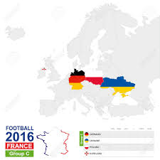 germany europe map football 2016 c table c highlighted on europe map