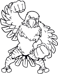 bald eagle coloring pages cartoon coloringstar