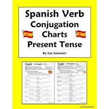 verb conjugation charts present tense pdf