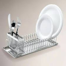 dish drainer for small side of sink small over sink dish drainer home and sink