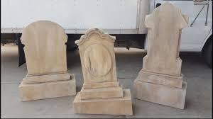gravestones for halloween heavy duty halloween tombstone props youtube