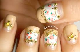 vintage roses nail art tutorial for short nails how to