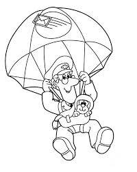 postman pat skydiving jess coloring pages bulk color
