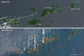 satellite map of florida before and after satellite images show hurricane irma