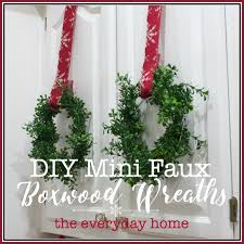 artificial boxwood wreath diy mini faux boxwood wreaths the everyday home