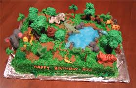 jungle theme cake jungle cakes decoration ideas birthday cakes