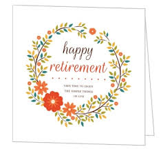 retirement card orange floral wreath happy retirement card greeting cards