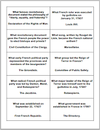 french revolution game cards student handouts