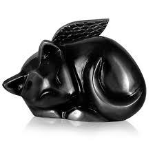 cat urns cat urn sleeping cat angel black