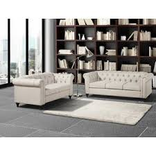 modern tufted cushions living room sets allmodern