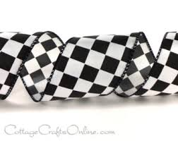 checkered ribbon race car ribbon etsy