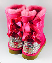womens pink ugg boots with bows ugg bailey bow pink ugg boots with swarovski