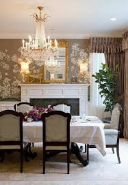 Crystal Chandelier Dining Room Best Dining Room Wallpaper Ideas Inspirations Wowfyy