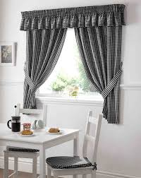 Checkered Kitchen Curtains Decoration Black And White Checkered Kitchen Curtains Yellow
