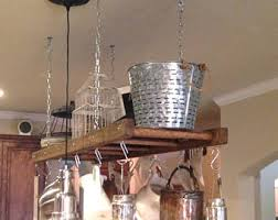 kitchen island with pot rack pot racks etsy