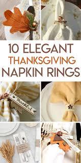 10 terrific fall and thanksgiving napkin ring tutorials random