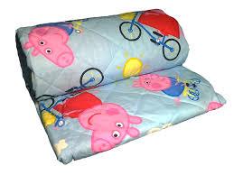 quilt single child peppa pig