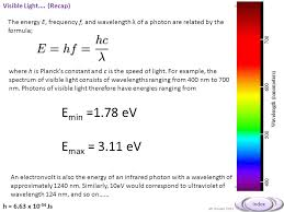 Visible Light Examples 2 5 2 The Photoelectric Effect Wave Particle Duality Ppt Download
