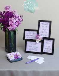 purple guest book diy rolodex books and wedding