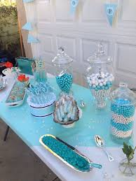 Tiffany Blue Candy Buffet by 27 Best Baby Boy Shower Ideas Themes Cakes Favors Images On