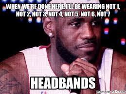 Lebron Headband Meme - lebron hairline meme 28 images pin lebron hairline meme