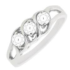 mothers rings white gold 3 domed s ring in 14kt white gold