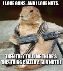 Squirrel Nuts Meme - don t worry you don t have to be a gun nut to shoot guns
