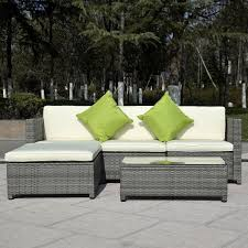 Patio Wicker Furniture Set - gym equipment outdoor wicker patio rattan furniture set pe 5 pieces