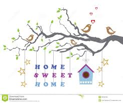 home sweet home moving in new house greeting card royalty free
