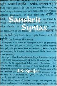 sanskrit syntax j s speijer 9788120804838 amazon com books