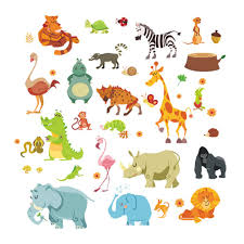 aliexpress com buy jungle wild animals diywall sticker for kids aliexpress com buy jungle wild animals diywall sticker for kids baby nursery room cartoon wall stickers home decor 1228 funiture decoration from reliable