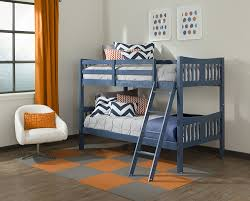 Amazoncom Storkcraft Caribou Solid Hardwood Twin Bunk Bed Navy - Navy bunk beds