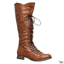 s boots overstock overstock soda s water s knee high lace up combat boots