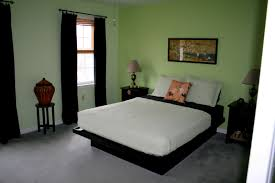 gorgeous image of lime bedroom decoration using black double