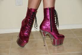 womens pink boots size 11 size 11 high heels qu heel
