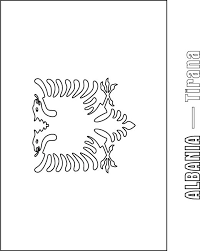 albanian flag coloring page funycoloring