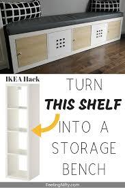 ikea kitchen cabinets for sale kijiji ikea kallax hack turn bookshelf into a seating bench with