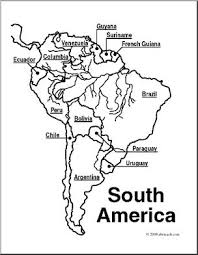 map of and south america black and white clip south america map coloring page labeled i abcteach