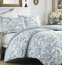 Ideas For Toile Quilt Design Bedroom White Toile Bedding Design With White Headboard And