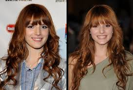 bella thorne red hair color of long hairstyles with bangs