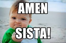 Baby With Fist Meme - amen sista fist pump baby meme generator amen pinterest