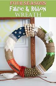 ribbon wreath diy craft tutorial how to make a four seasons fabric and ribbon