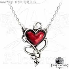 red gothic necklace images Alchemy gothic devil heart 3d goth necklace gothic jewellery jpg