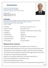 Sample Resume For Hotel Management by Resume Sample For Hotel And Restaurant Management Templates