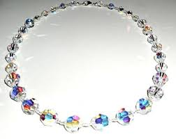 crystal jewellery necklace images Vintage crystal necklaces etsy jpg