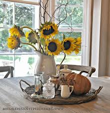 fall decorating table ideas grey wood dining table no chandelier