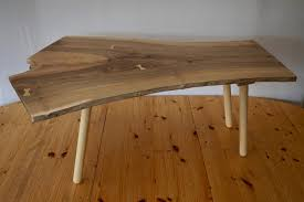 hand made coffee table with a rare piece of locally sourced solid