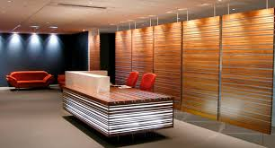 interior modern bathroom decoration with brown wood panel complete